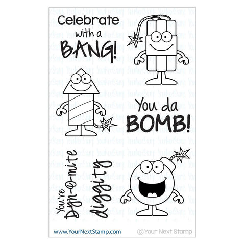 "Your Next Stamp Clear Stamp 4"" x 6"" - Boom"