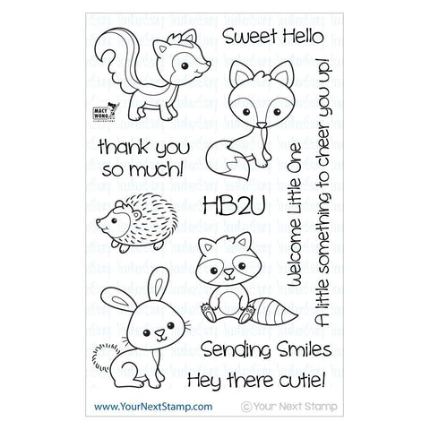 "Your Next Stamp Clear Stamp 4"" x 6"" - Woodland Cuties"
