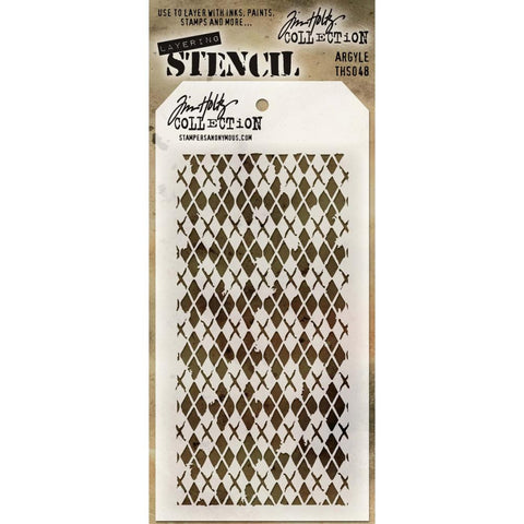 Stampers Anonymous - Tim Holtz - Layering Stencil -  Argyle