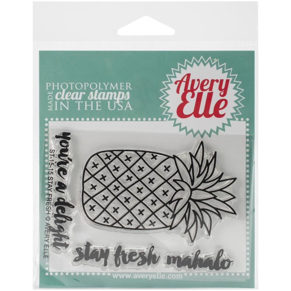 "Avery Elle Clear Stamp Set 4""X3"" - Stay Fresh (Coordinates with ""Stay Fresh"" Die Set)"