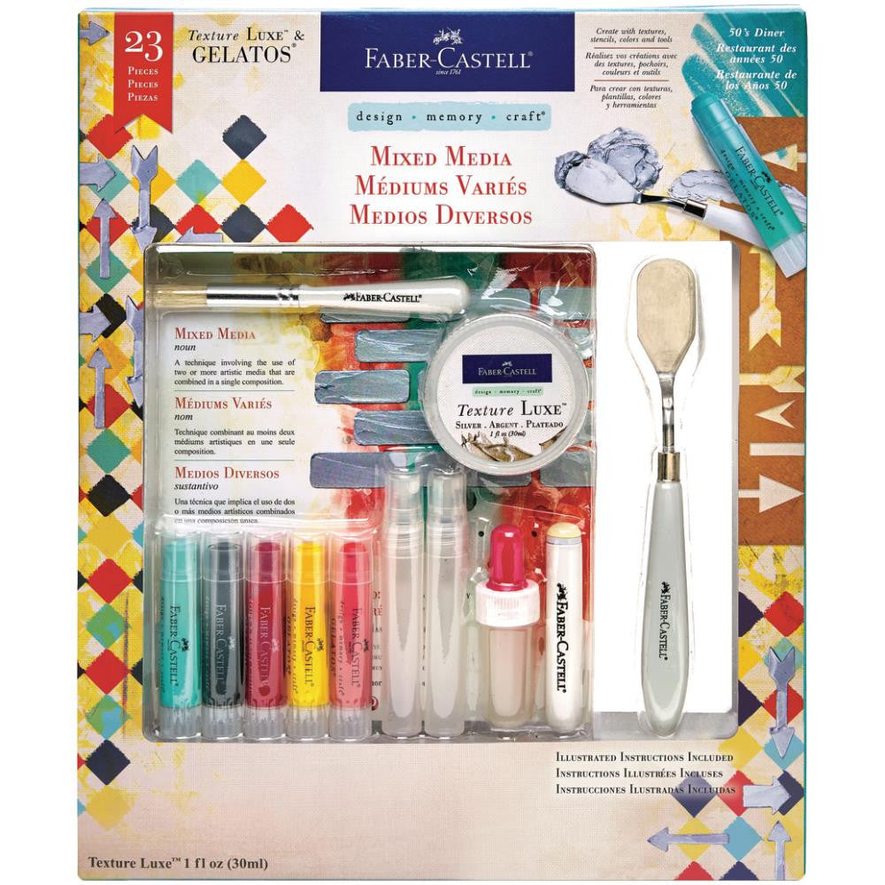 Faber Castell - Mix & Match Gelatos Exploring Mixed Media Kit - 50's Diner