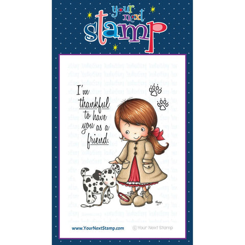 "Your Next Stamp Clear Stamp 3"" x 4"" - Jessica with her Puppy"