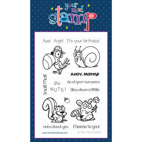 "Your Next Stamp Clear Stamp 4"" x 6"" - Quirky Animals One"