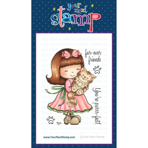 "Your Next Stamp Clear Stamp 4"" x 4"" - Jessica with her Kitty"