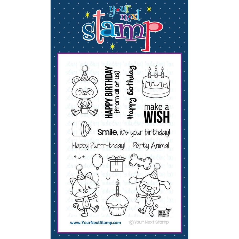 "Your Next Stamp Clear Stamp 4"" x 6"" - Party Animals"