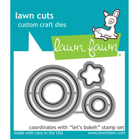 Lawn Cuts Custom Craft Die - Let's Bokeh (Coordinates with Let's Bokeh stamp set)