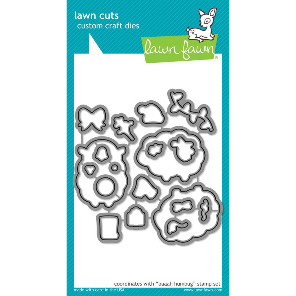 Lawn Cuts Custom Craft Die - Baaah Humbug (Coordinates with Baaah Humbug stamp set)