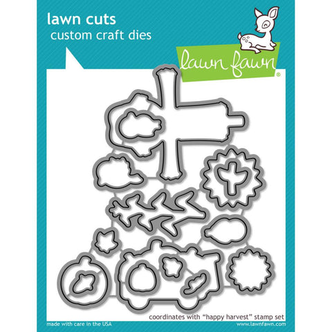 Lawn Cuts Custom Craft Die - Happy Harvest (Coordinates with Happy Harvest stamp set)