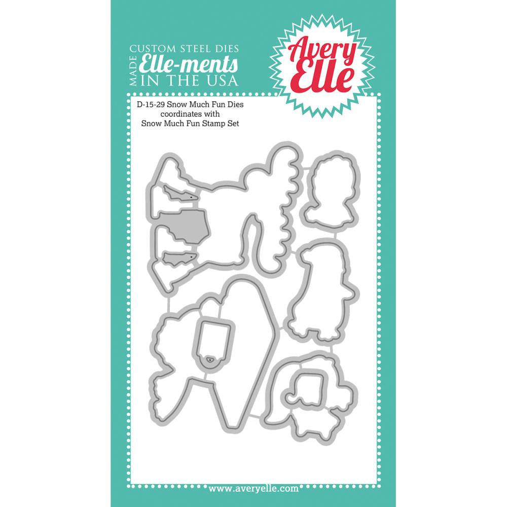 "Avery Elle Ellements Die Set - Snow Much Fun (Coordinates With ""Snow Much Fun"" Stamp Set)"
