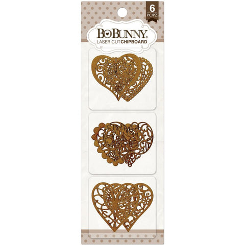 BoBunny Laser-Cut Chipboard - Hearts
