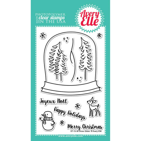 "Avery Elle Clear Stamp Set 4""X6"" - Snow Globe (Coordinates With ""Snow Globe"" Ellements Die)"