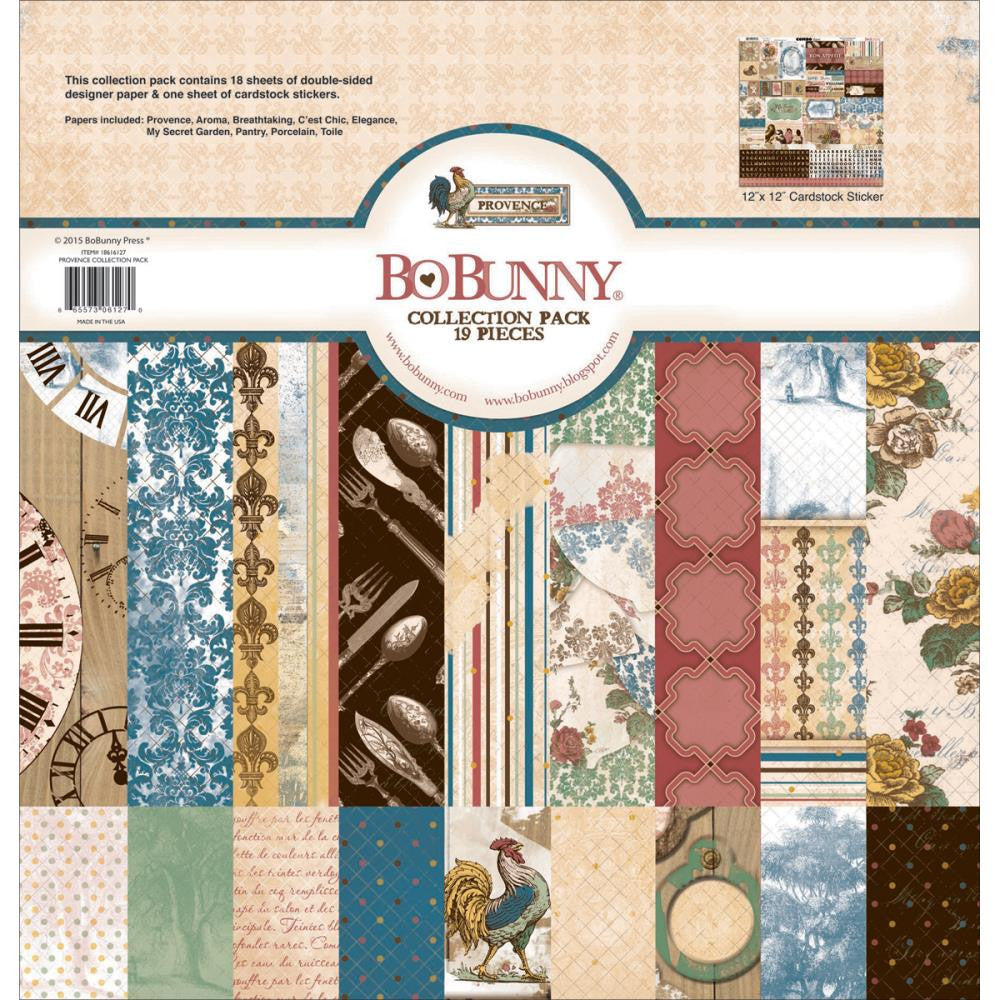 "New BoBunny Paper Pack Collection 12"" x 12"" - Provence"