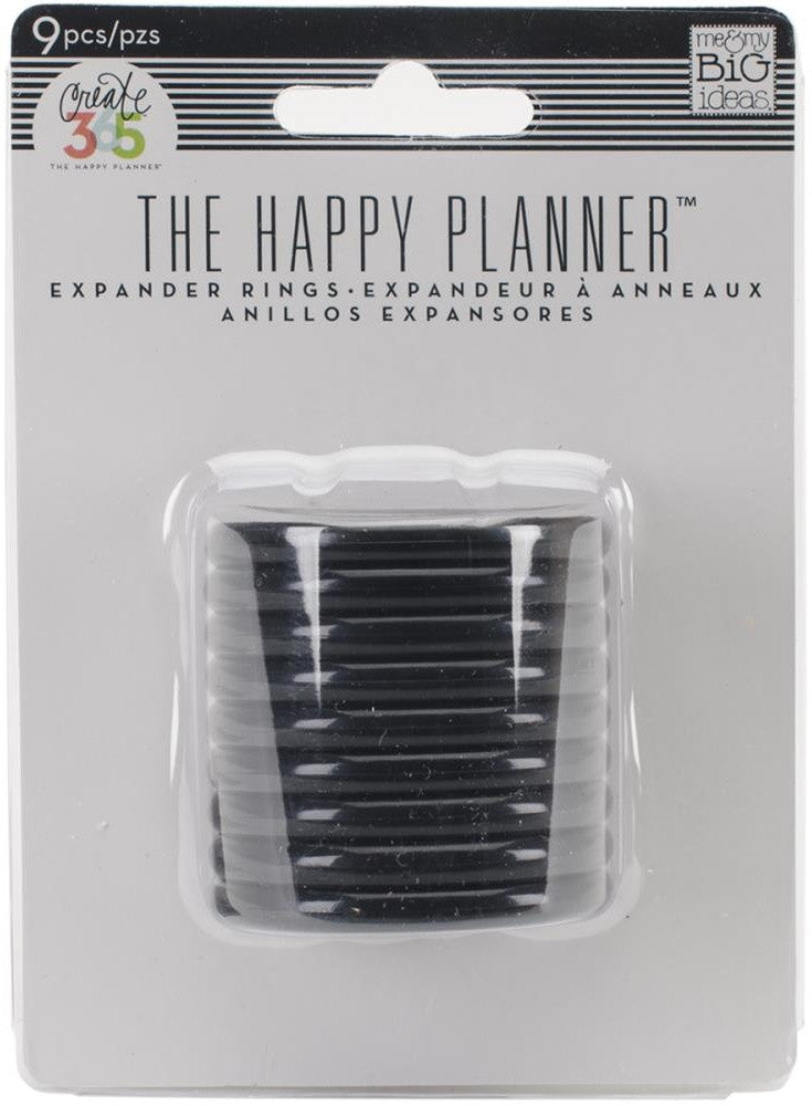 Me & My Big Ideas - Create 365 The Happy Planner Expander Rings - Black