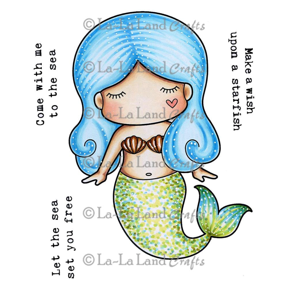 "La-La Land Cling Stamps 4.5""X3.5"" Mermaid"