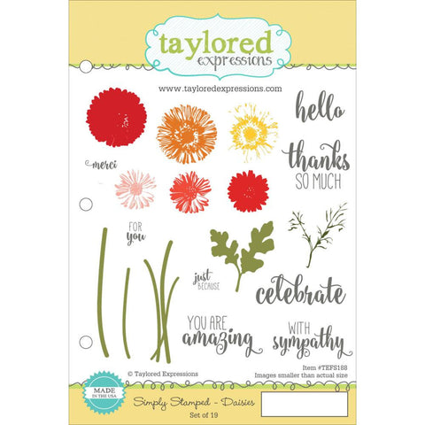 "Taylored Expressions Cling Stamp  5.5"" x 8.5"" - Simply Stamped Daisies"