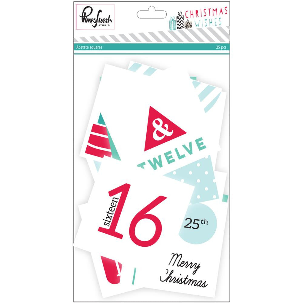 Christmas Wishes Acetate Cards 25/Pkg