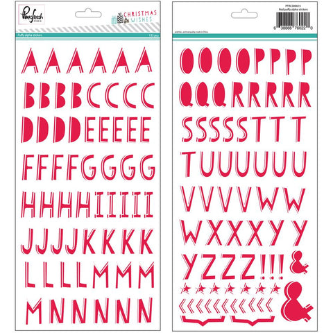"Christmas Wishes Puffy Alphabet Stickers 5.5""X11"" 2/Pkg"