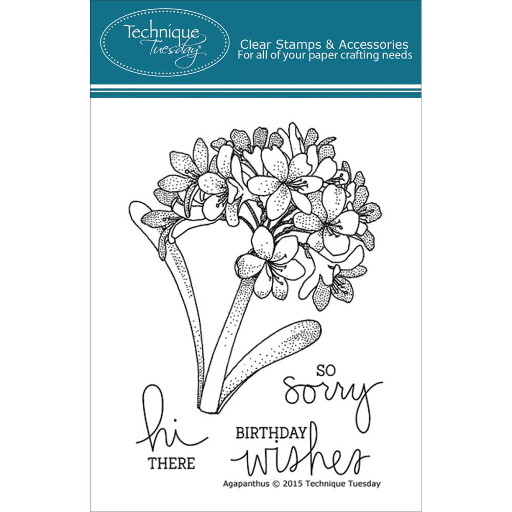 "Technique Tuesday Clear Stamps 3"" x 4"" - Agapanthus"