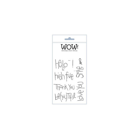 "WOW! Clear Stamp Set 4""X5.75"" - Big Words"