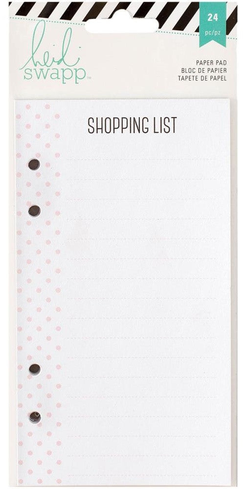 Heidi Swapp - Memory Planner Paper Pad - Shopping List