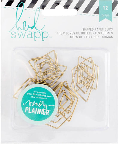 Heidi Swapp - Memory Planner Shaped Paper Clips