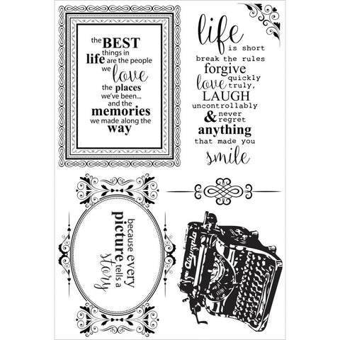 "Kaisercraft - Clear Stamps 6.25""X4"" - Story Book"