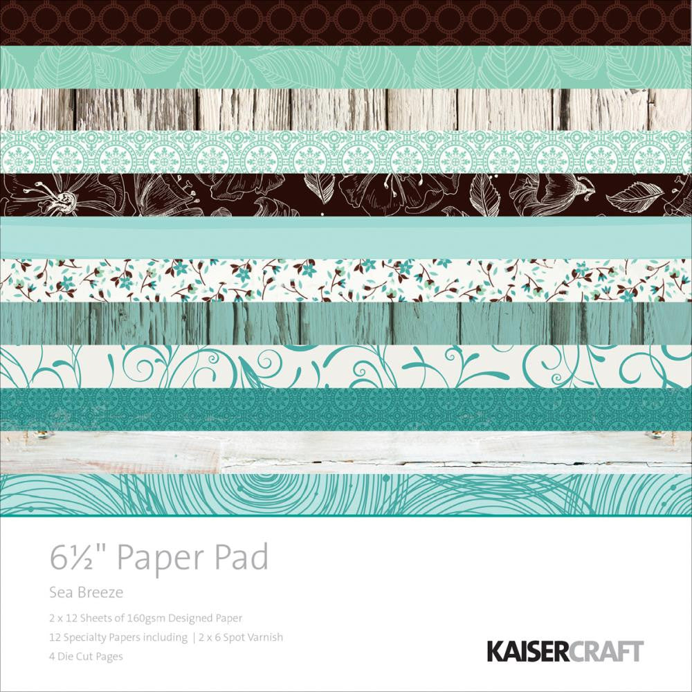 "Kaisercraft Paper Pack 6.5"" x 6.5"" - Sea Breeze"