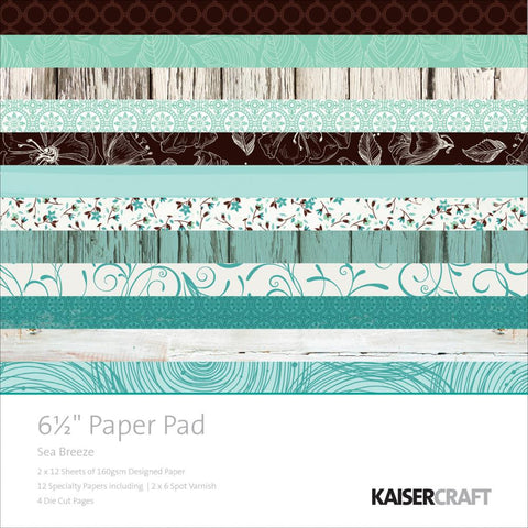 "***New Item*** Kaisercraft Paper Pack 6.5"" x 6.5"" - Sea Breeze"
