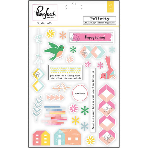 "Felicity Studio Puffs Stickers 5""X7"""