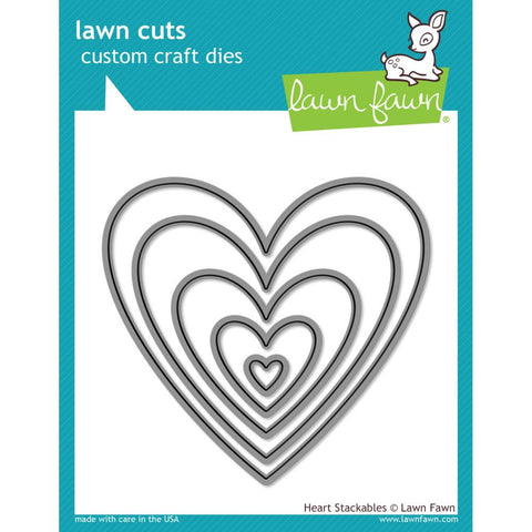 Lawn Cuts Custom Craft Die - Heart Stackables