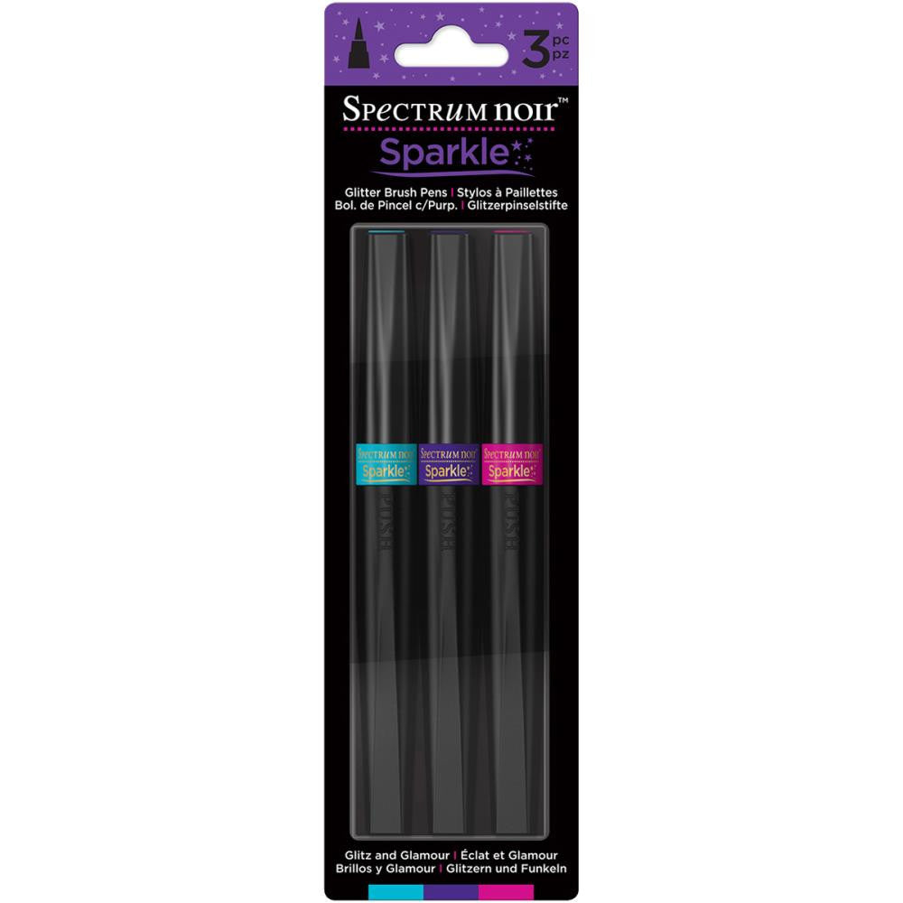 Crafter's Companion Spectrum Noir Sparkle Markers - Glitz & Glamour - Pack of 3