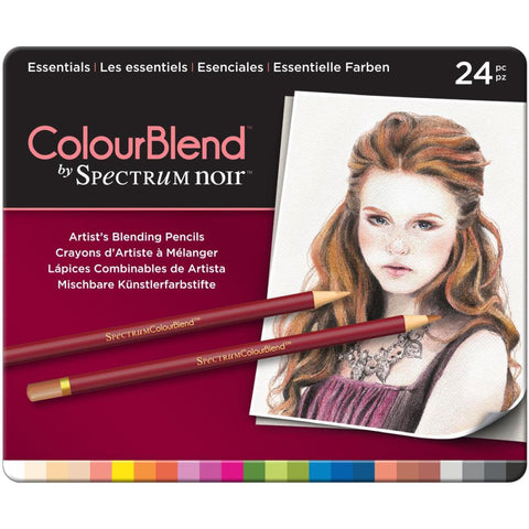 ***New Item*** Spectrum Noir ColorBlend Pencils 24/Pkg- Essentials