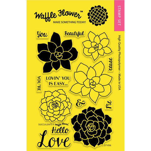 "Waffle Flower Crafts - Clear Stamps 4""X6"" - Succulents"