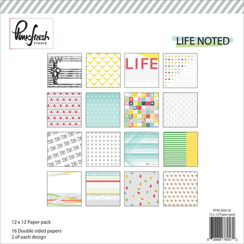 "***New Item*** Pinkfresh Studio, Paper Collection Pack, 12""X12"", 16/Pkg - Life Noted"