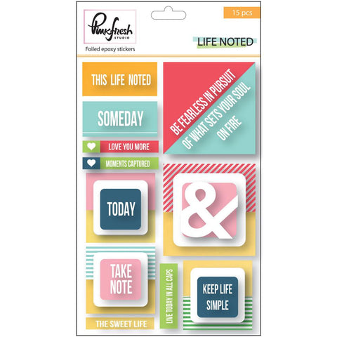 "***New Item*** Pinkfresh Studio, Epoxy Stickers, 4""X6"" - Gold Foil"