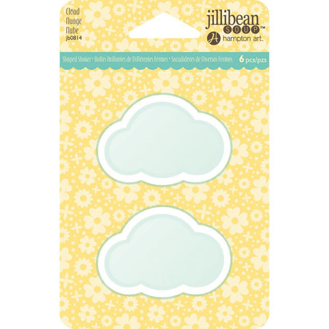 Jillibean Soup PVC Card Shakers 6/Pkg Cloud (Shaker Card)