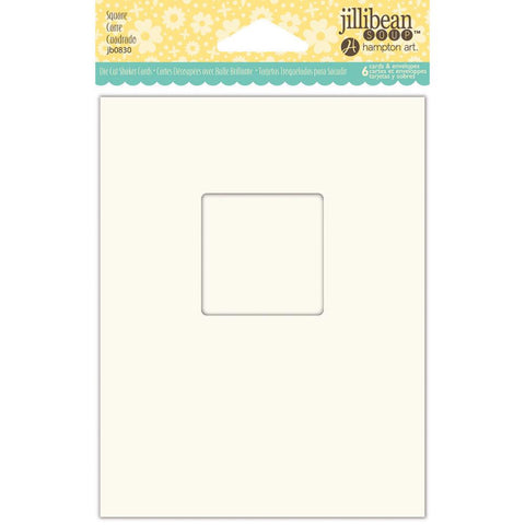 "Jillibean Soup Shaker Cards W/Envelopes 5.5""X4.25"" 6/Pkg Square (Shaker Card)"