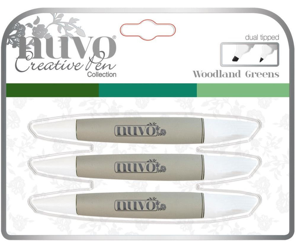 Nuvo - Creative Pen Collection - Woodland Greens (Available: Feb. 16, 2017)