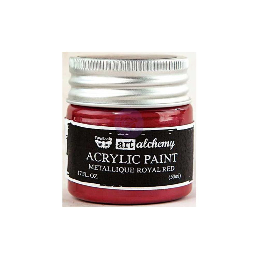 Finnabair Art Alchemy, Acrylic Paint 1.7 Fluid Ounces - Metallique Royal Red