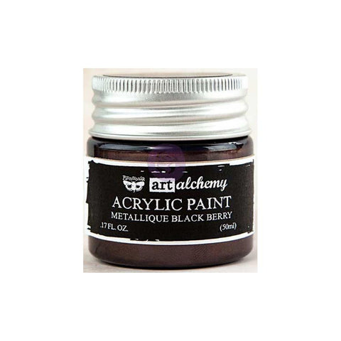Finnabair Art Alchemy, Acrylic Paint 1.7 Fluid Ounces - Metallique Black Berry