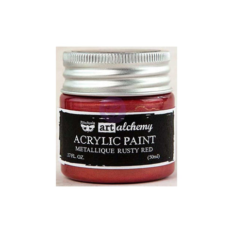 Finnabair Art Alchemy, Acrylic Paint 1.7 Fluid Ounces - Metallique Rusty Red
