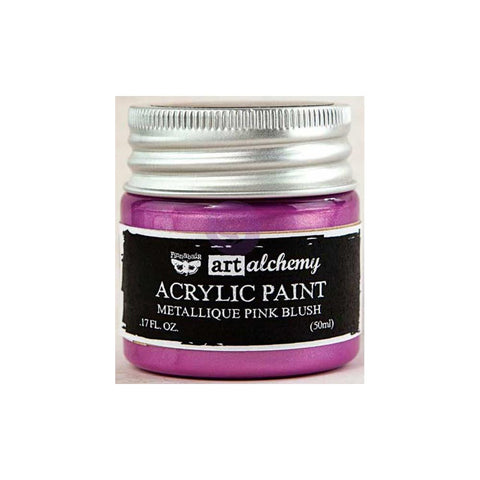 Finnabair Art Alchemy, Acrylic Paint 1.7 Fluid Ounces - Metallique Pink Blush