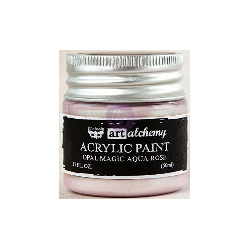 Finnabair Art Alchemy - Acrylic Paint - Opal Magic Aqua/Rose