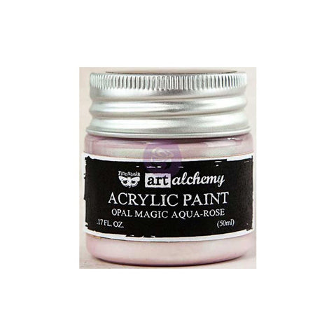 Finnabair Art Alchemy, Acrylic Paint 1.7 Fluid Ounces - Opal Magic Aqua/Rose
