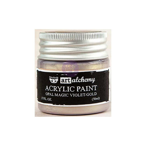 Finnabair Art Alchemy, Acrylic Paint 1.7 Fluid Ounces - Opal Magic Gold/Violet