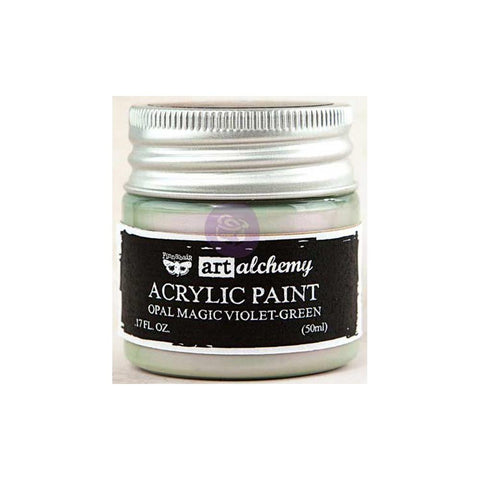 Finnabair Art Alchemy, Acrylic Paint 1.7 Fluid Ounces - Opal Magic Violet/Green