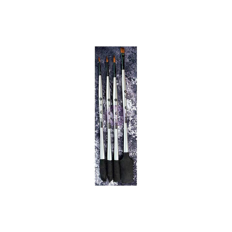 Finnabair Art Basics Double-Ended Brush Set 4/Pkg