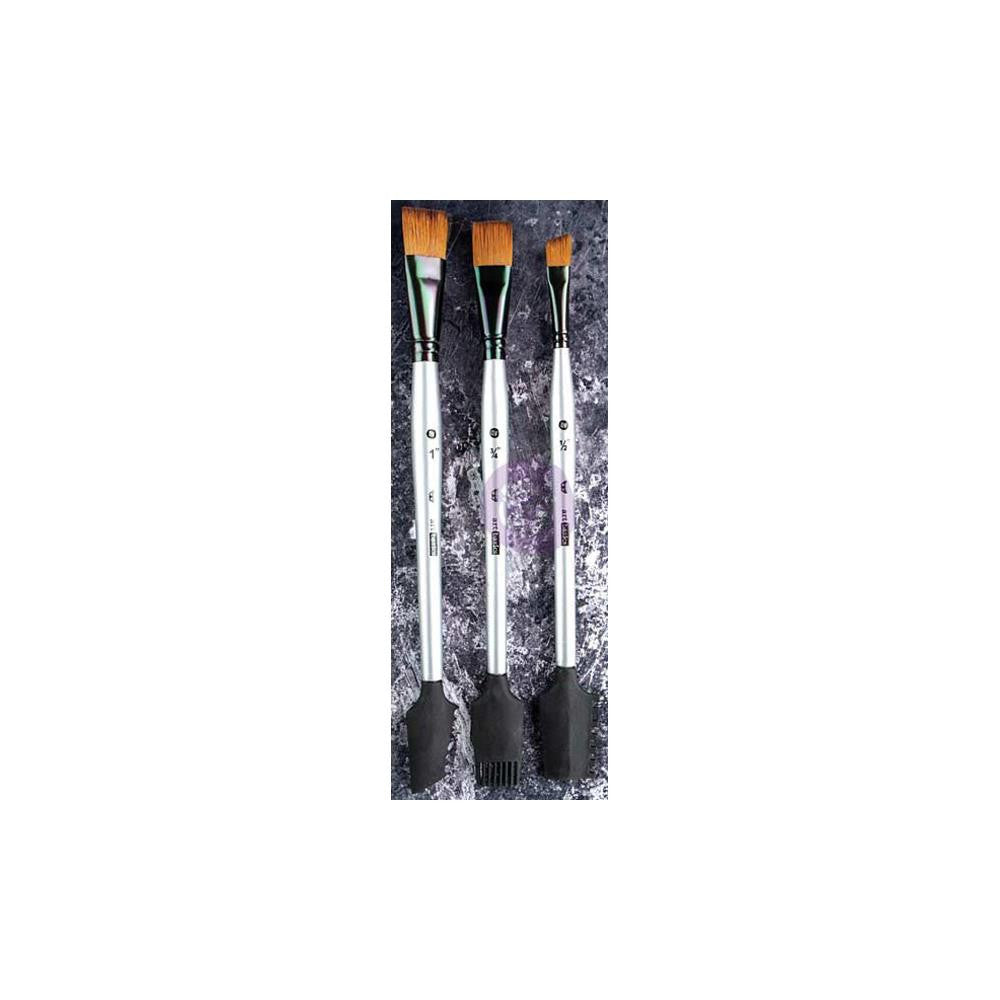 Finnabair Art Basics Double-Ended Texture Brushes Set 1 - 3/Pkg
