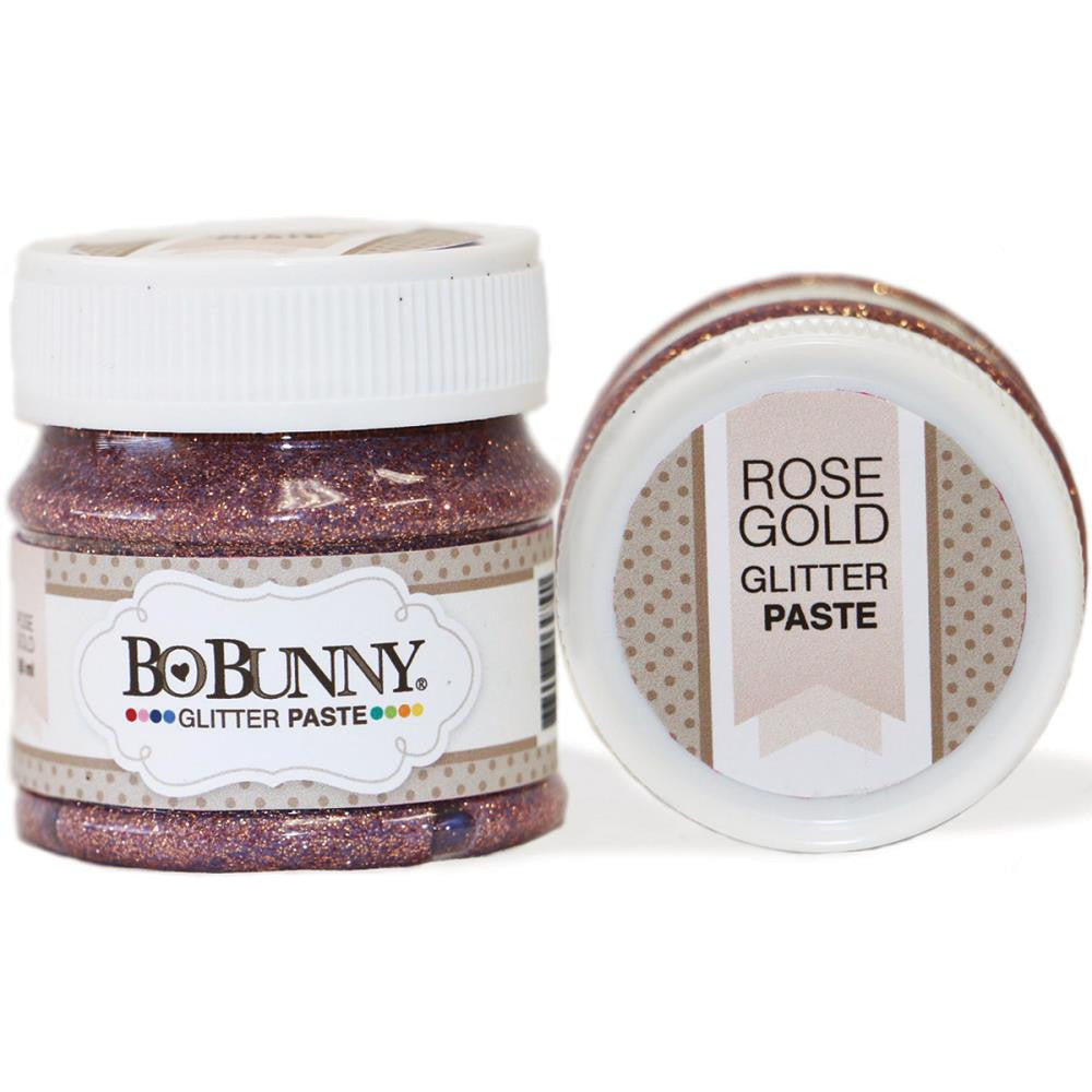 BoBunny Double Dot Glitter Paste - Rose Gold