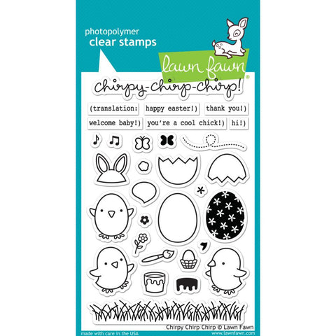 "Lawn Fawn Clear Stamps - Chirpy Chirp Chirp 4"" x 6"" (Coordinates With ""Chirpy Chirp Chirp"" Lawn Die Cuts)"